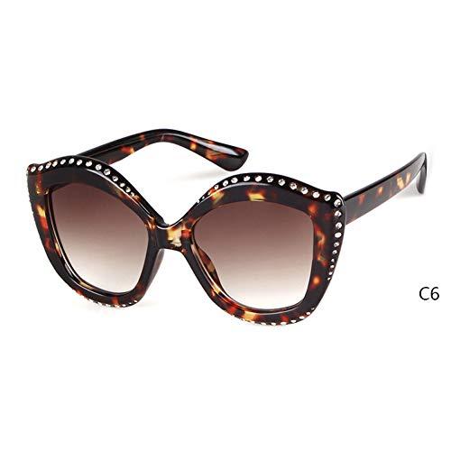 ZRTYJ Sonnenbrille Olivgrün cat Eye Sonnenbrille Frauen Diamant markendesigner Retro Vintage kristallrahmen chic Sonnenbrille