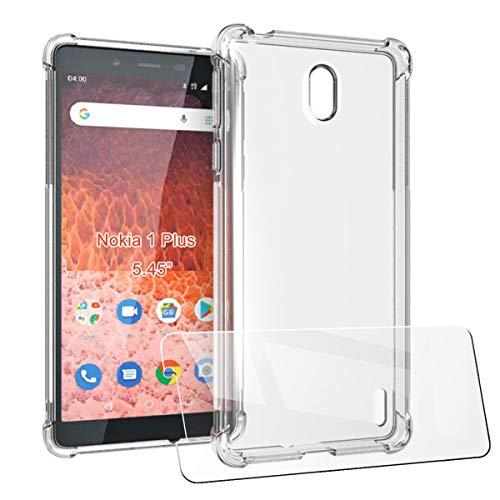LJSM Hülle + Schutzfolie für Nokia 1 Plus (5.45
