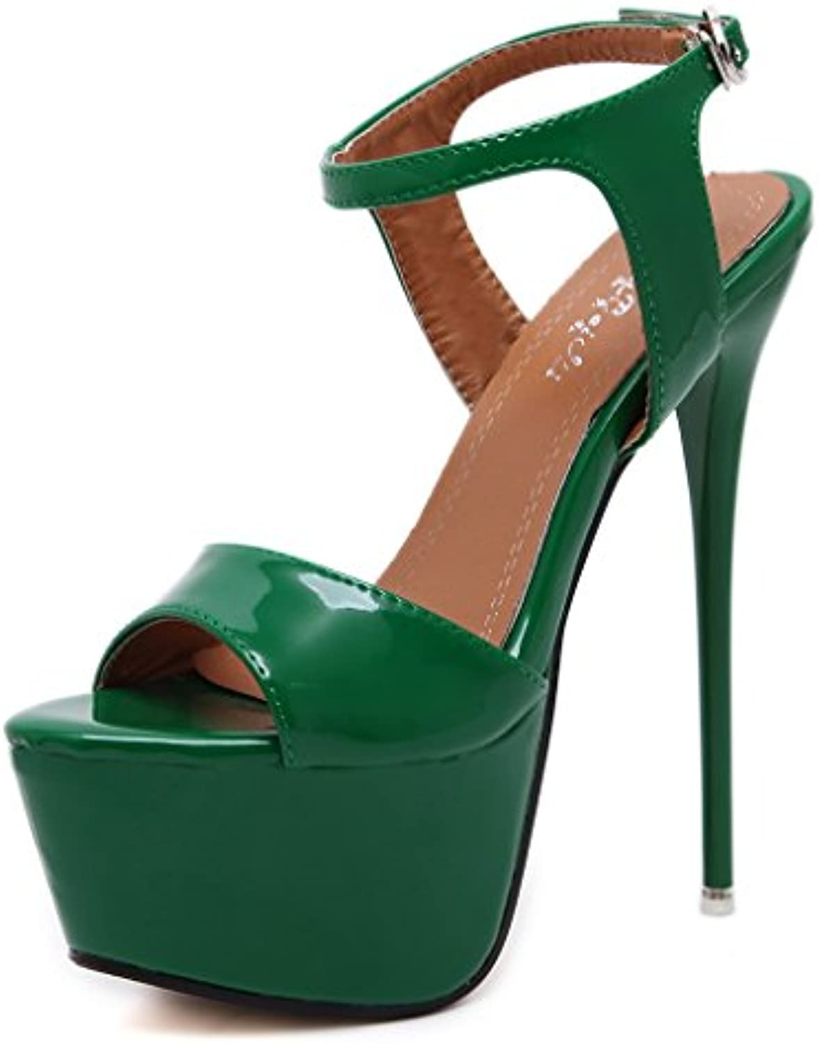 cdc89f8e80dcf6 ALUK- Europe And The United States Wild Fashion Fashion Fashion High-heeled  Temperament With Women s Shoes ( Color   Green