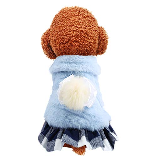 Timogee Hunde Wintermantel Bogen Rock Herbst und Winter Komfort Katzen Hundekleidung Chihuahua Kleidung Hundekleidung Kleine Hunde Haustier Kostüm Mantel Anzug