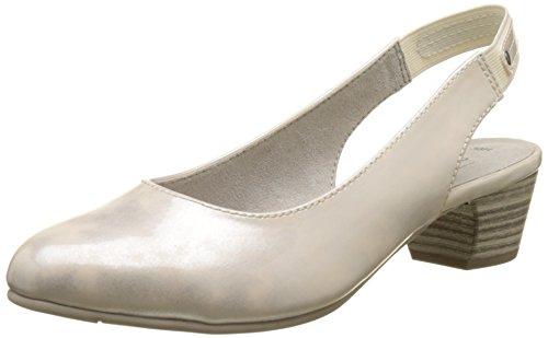 Softline 29561, Sandali con Zeppa Donna Bianco (Wht/silver Pat 195)