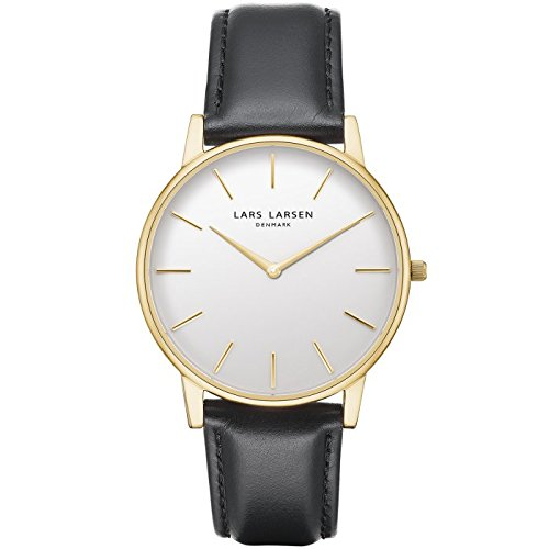 LARS Larsen Oliver Oro con Quadrante Bianco 39 mm Watch