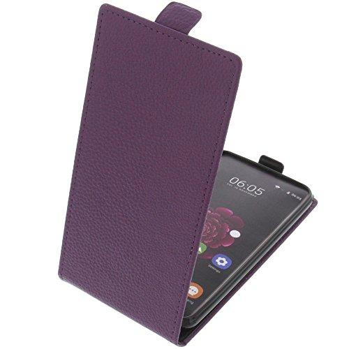 foto-kontor Tasche für Oukitel U20 Plus Smartphone Flipstyle Schutz Hülle lila
