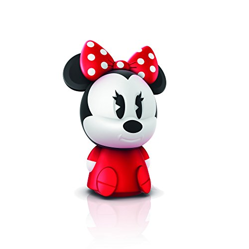 Image of Philips Disney Minnie Mouse Children's Guided USB Charging Night Light and Softpal - Red and White Night Lamp