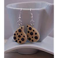 Orecchini Ispirati alle Gocciole in FIMO Fosforescente Kawaii Cute Earrings Beige Jewerl Handmade Polymer clay