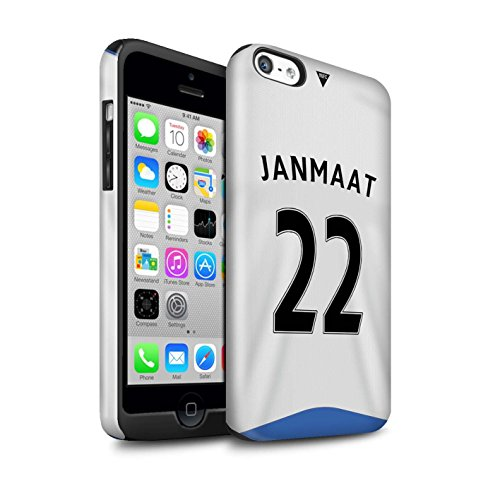 Offiziell Newcastle United FC Hülle / Glanz Harten Stoßfest Case für Apple iPhone 5C / Pack 29pcs Muster / NUFC Trikot Home 15/16 Kollektion Janmaat