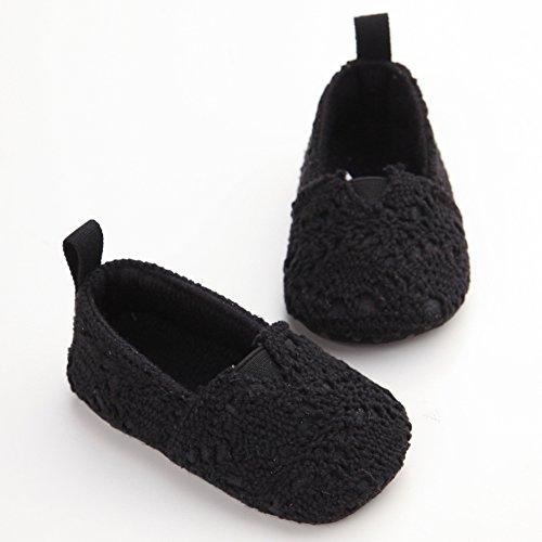 Leap Frog  Knit Sneaker, Baby Mädchen Lauflernschuhe Schwarz