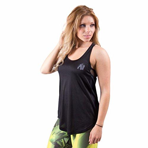 Gorilla Wear Women's Santa Monica Tank Top - Black/Grey, S (Workout Womens Top)