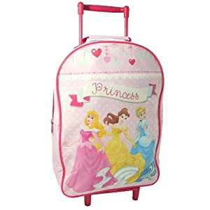 Disney Princess Girls Travel Cabin Wheeled Bag Trolley Suitcase Luggage Pink New