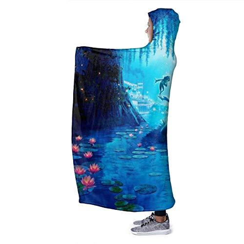 zhengdengshuibaihuodian Pinocchio Hooded Blanket Übergroße warme Decke für Erwachsene mit weichem Anti-Pilling-Flanell für Erwachsene und Kinder 3D-Druck 80 x 60 Zoll
