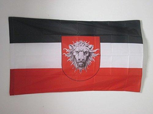 AZ FLAG Flagge DEUTSCH-OSTAFRIKA 1885-1919 150x90cm - DEUTSCHE KOLONIE Fahne 90 x 150 cm Scheide für Mast - flaggen Top Qualität