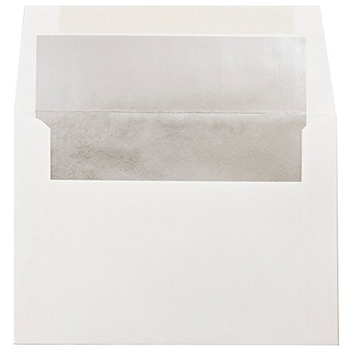 jam-papera6-4-3-4-x-6-1-2-foil-lined-invitation-envelopes-white-with-silver-foil-lining-25-envelopes