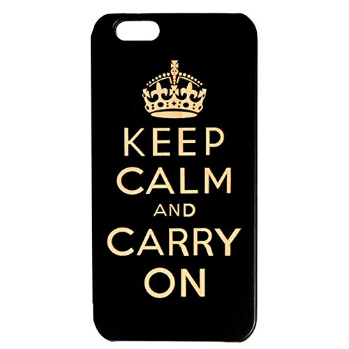 Wooden case for apple iPhone 6 /6S (Black) - Keep Calm design