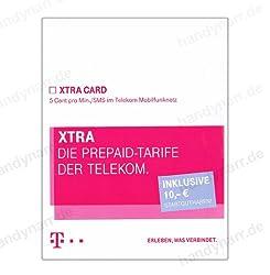 T-Mobile D1 Xtra Card, SMS/Telf. 5 Cent mit Bonusguthaben 10 Euro