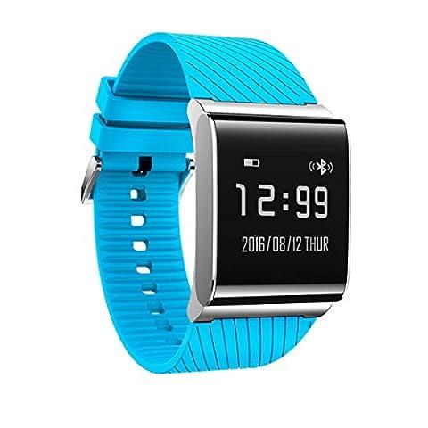 Smart Blutdruck Herzfrequenzmesser Sportuhr Armband Pedometer Aktivität Gesund Geschenk,Blue