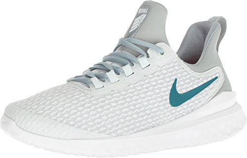 Nike Womens WMNS Renew Rival Barely Grey GEODE Teal Punch Size 6.5 -