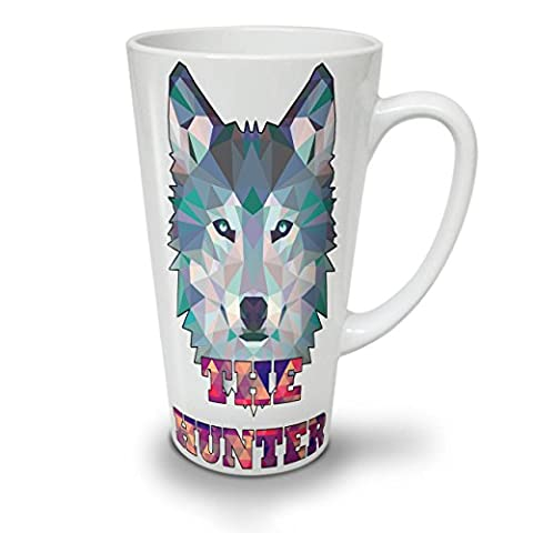 Wolf Hunter Nature Animal Spiky Look White Tea Coffee Ceramic