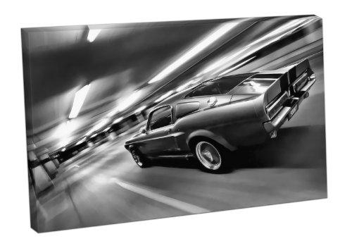 leinwanddruck-motiv-ford-mustang-shelby-gt-500-46x30-inch-schwarz-weiss