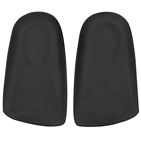 footinsole Half Elevator Insoles - Shoe Lifts – Increase ½ Inch Height Instantly - Leather Black