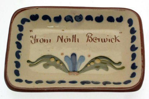 Vintage Longpark Art Pottery Motto Ware Small Dish From North Berwick - Clt609