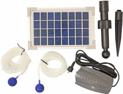 Woodside Pompe solaire à oxygène pour étangs 2 têtes de diffusion