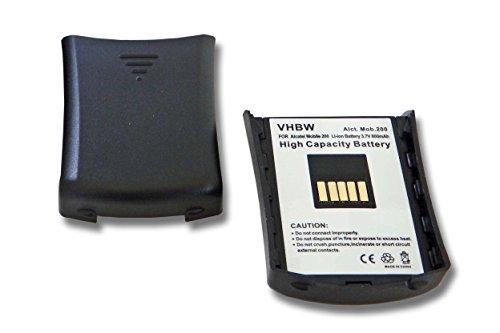 vhbw 2X Li-Ion Akku 800mAh (3.7V) für schnurlos Festnetz Telefon Alcatel Mobile Reflexes 200 wie 3BN67137AA.
