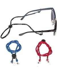 Soleebee Correa de Gafas de Sol Cadena de Anteojos Cadena de Gafas de Sol Soporte de Correa Ajustable para el Cuello