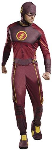 Für Flash Kostüm Erwachsene - Generique - Klassisches The Flash-Kostüm für Erwachsene M / L