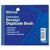 Silvine–Blocco copiativo autocopiante ricezione 1–100106,5x 125.5mm, 720-p [Confezione da 5]