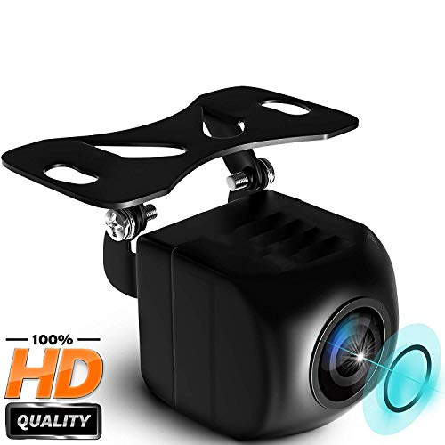 Auto telecamera retromarcia, pomile park assist per auto 140 ° hd telecamere per retromarcia per veicolo notturno universale hd impermeabile per tutti i veicoli (nero, 1)