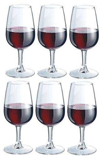 DUROBOR Lot de 6 Verre à vin Blanc ou Verres à vin Rouge 220 ML