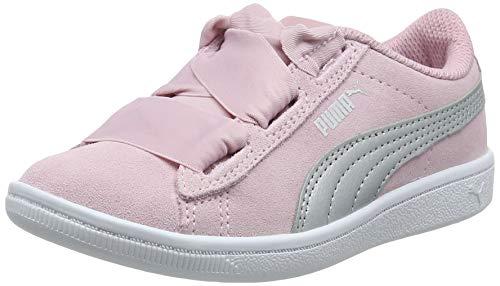 Puma Mädchen Vikky Ribbon AC PS Sneaker, Pale Pink Silver, 31 EU