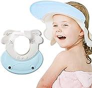 KASTWAVE Baby Shower Cap Baby Shower Cap Visor with Ear Protection for Bathing Washing Hair, Soft Hat Adjustab
