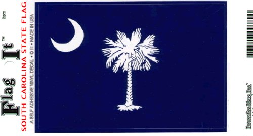 South Carolina Flag Decal For Auto, Truck