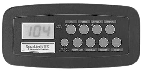 Zodiac 7894 8 Function Black SpaLink Remote Replacement for Zodiac Jandy AquaLink RS System,