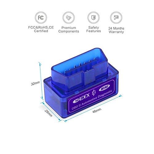 Ldex Bluetooth Diagnose Scanner OBD 2 Android CAN BUS Interface Diagnosegerät funktioniert bei allem PKWs KFZs - 2