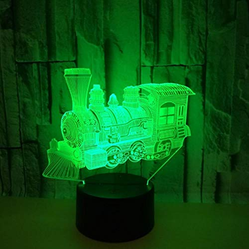 ZJFHL 3D Optische Illusions-Lampen Schulung 7 Farben erstaunliche optische Täuschung die Schlafzimmer-Dekoration für Kinder Weihnachten Halloween-Geburtstagsgeschenk beleuchten -