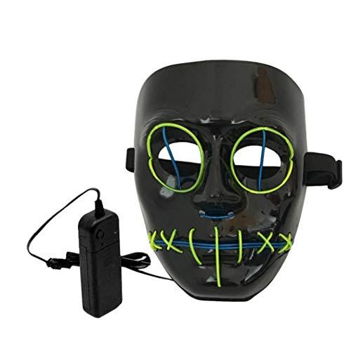 LCLrute Halloween Maske LED Beleuchtung Maskerade Party Halloween Kostüm ()