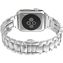 Apple Watch Watch Band - SODIAL(R)Replacement Wrist Bracelet Sport Band Strap For Apple Watch 38mm/Arc-shaped B/Sliver
