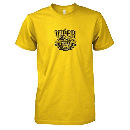 TEXLAB - Galactica Viper - Herren T-Shirt, Größe XXL, gelb