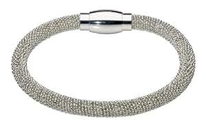 Dew Bracelet Popcorn Style Silver Plated Bracelet of 19.1cm