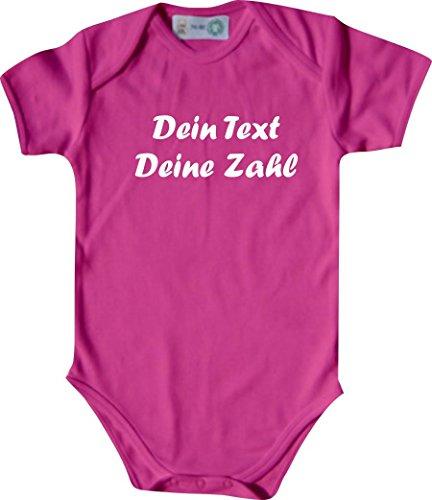ShirtInStyle Kurzarm Babybody mit deinem Wunschdruck veredelt, Farbe pink, Größe 50-56