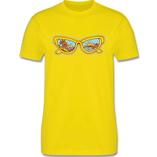 Urlaub - Sonnenbrille - Herren Premium T-Shirt Lemon Gelb