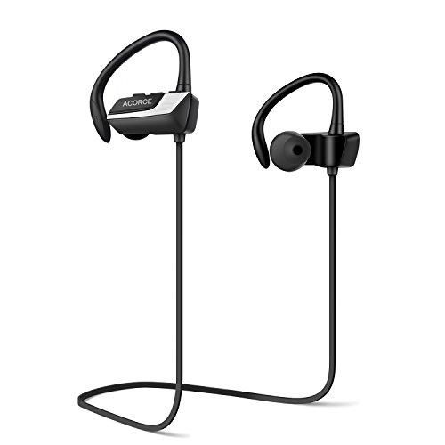 ACORCE Bluetooth Kopfhörer, In Ear Bluetooth 4.1 Drahtlose Kopfhörer Sport Ohrhörer Kabellos Nosie Canceling IPX5 Wasserschutz Headphones mit Mikrofon für iPhone und Android