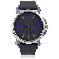 Simple Elegant Brand Quartz Watch Deportes Hombres al Aire Libre del silicón