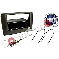 Silim-Frontal de radio de coche para FIAT STILO, 1 DIN, 2 DIN %2F adaptador de antena y llaves de extracción