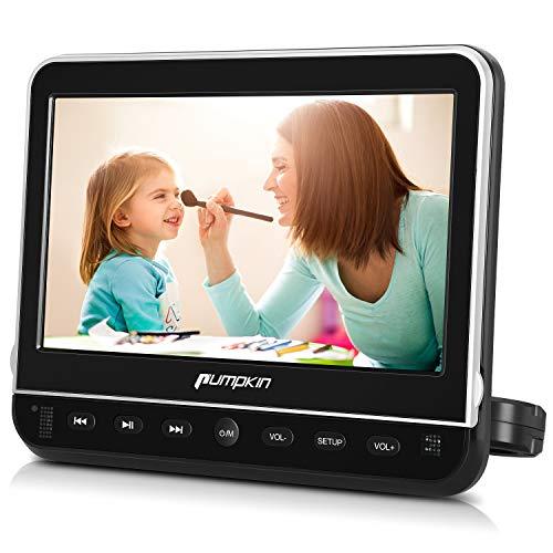 Pumpkin Lecteur DVD Voiture 10,1 Pouce Ecran d'appui tête pour Enfant Supporte Région Libre HDMI Input Émetteurs FM et IR intégrés USB SD avec Support de Montage