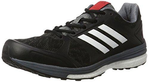 adidas Supernova Sequence 9, Zapatillas de Running para Hombre, Negro (Core Blackftwr Whitescarlet), 41 1/3 EU