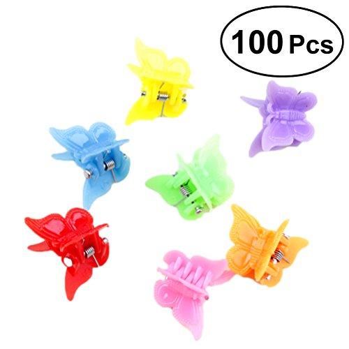 Frcolor Schmetterlings Haarspangen Haarspangen für Frauen und Mädchen (Mischfarben), 100 Stück