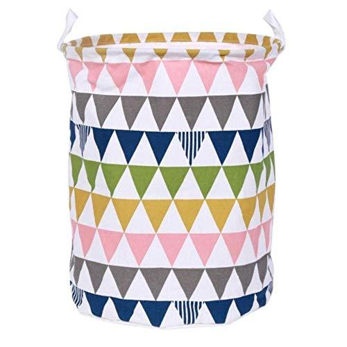 LIMMC Faltbare Wäschekorb Leinwand Ablagekorb Barrel Kreative Kinder Spielzeug Veranstalter Lagerung Barrel Container Hause Versorgt, 06 -